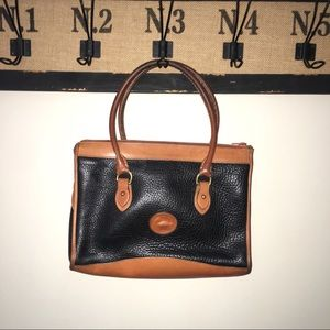 Dooney and Bourke Black Leather Pebbled Purse Bag